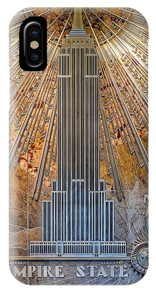 Aluminum Relief Inside The Empire State Building - New York IPhone Case