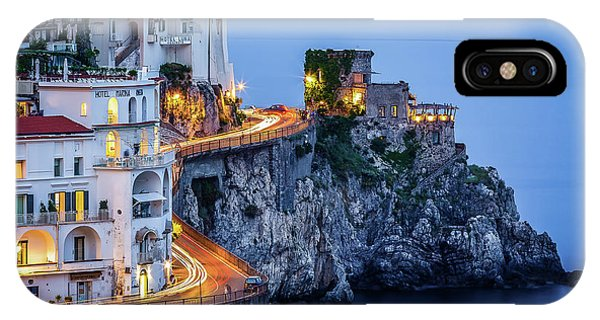 IPhone Case featuring the photograph Amalfi Coast Italy Nightlife by Nathan Bush