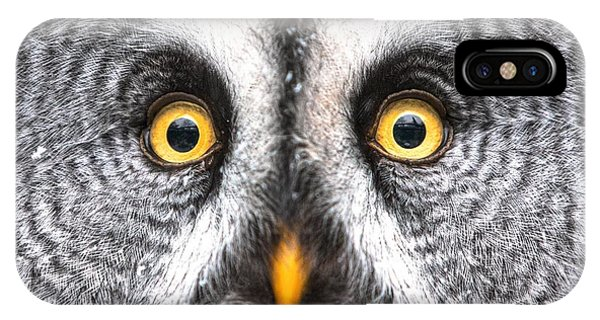 Amazed Great Grey Owl Hdr Phone Case by Pics-xl