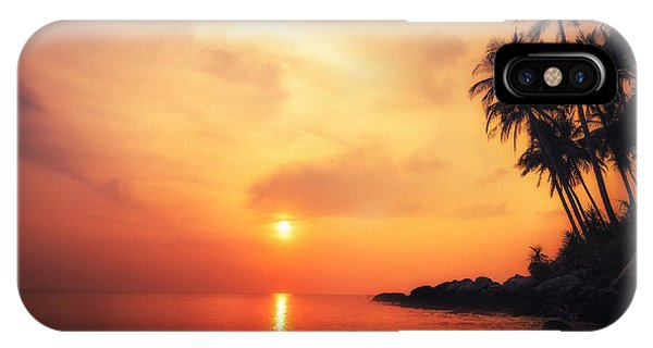 Bahamas iPhone Case - Amazing Colors Of Tropical Sunset by Perfect Lazybones
