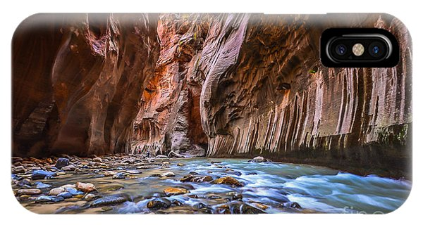 Red Rock iPhone X Case - Amazing Landscape Of Canyon In Zion by Pung