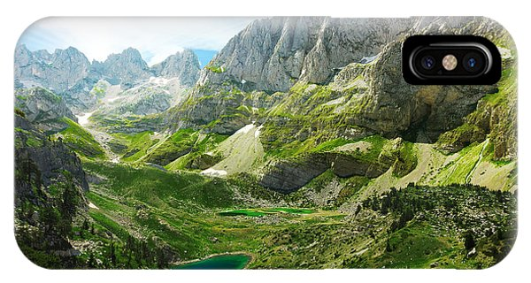 Spring Mountains iPhone Case - Amazing View Of Mountain Lakes In by Lenar Musin