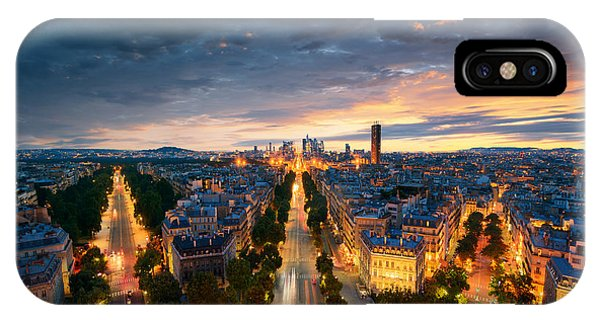 Charles iPhone Case - Amazing View To Night Paris by Im photo