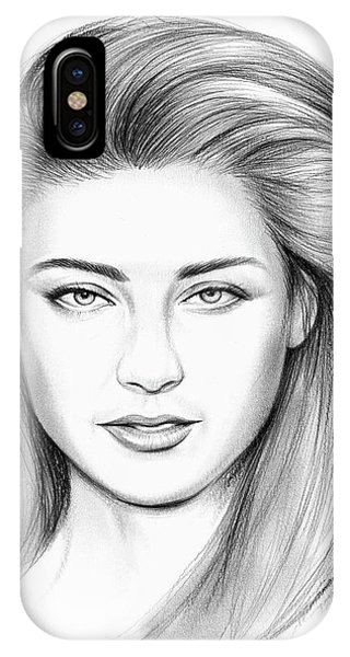 Amber iPhone Case - Amber Heard by Greg Joens