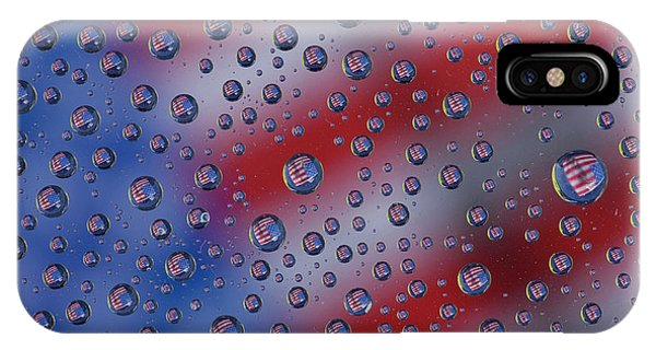 iPhone Case - American Flag Reflection In Dew Drops by Darrell Gulin
