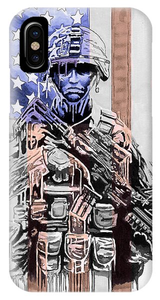 American Soldier IPhone Case
