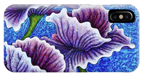 IPhone Case featuring the painting Amethysts Afloat by Amy E Fraser