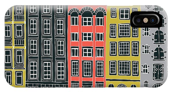 Seamless iPhone Case - Amsterdam Canal Houses by Lavandaart