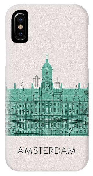 Holland iPhone Case - Amsterdam Landmarks by Inspirowl Design