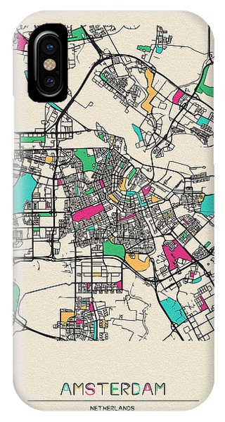 Holland iPhone Case - Amsterdam, Netherlands City Map by Inspirowl Design