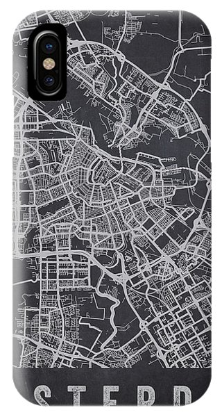 Holland iPhone Case - Amsterdam Netherlands Street Map - Neam02 by Aged Pixel