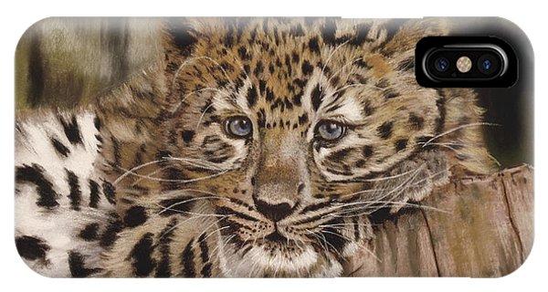 Amur Leopard Cub IPhone Case