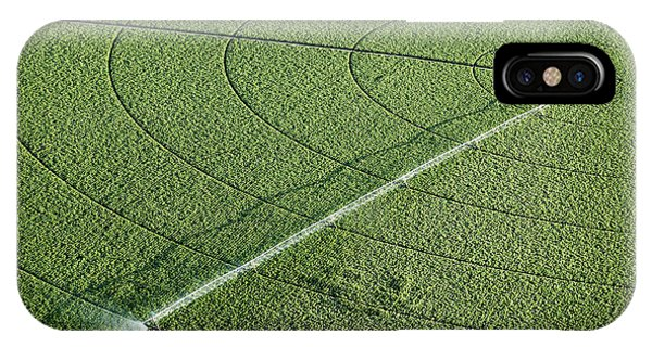 Farmland iPhone Case - An Aerial View Of An Agricultural by B Brown