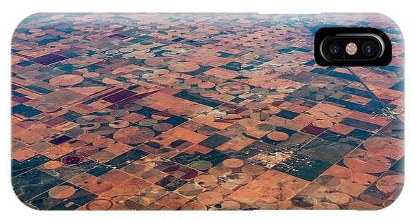 Airplanes iPhone Case - An Aerial View Of Massive Farmland With by Richard A Mcmillin