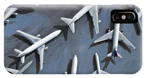 Departure iPhone Case - An Aerial View Of Multiple Airplanes On by Azp Worldwide