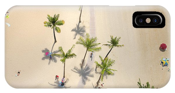 Peaceful iPhone Case - An Aerial View Of People Relaxing On A by Sportlibrary