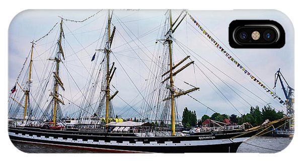 An Exit Sailboat Krusenstern On Parade IPhone Case