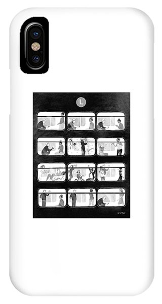 An L Train Love Story IPhone Case