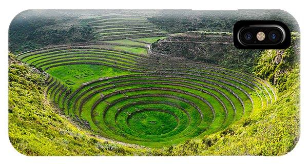 Farmland iPhone Case - Ancient Inca Circular Terraces At Moray by Vadim Petrakov