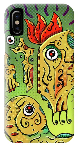 IPhone Case featuring the digital art Ancient Spirit by Sotuland Art