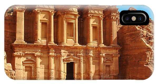 Sandstone iPhone Case - Ancient Temple In Petra, Jordan by Silky