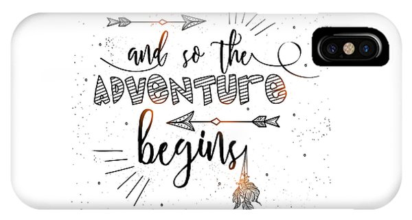 And So The Adventure Begins - Boho Chic Ethnic Nursery Art Poster Print IPhone Case