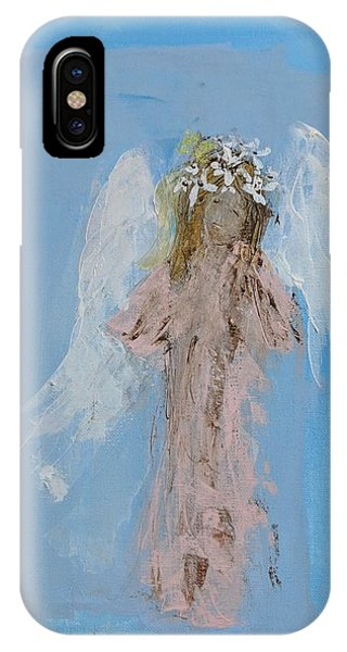 Angel With A Crown Of Daisies IPhone Case