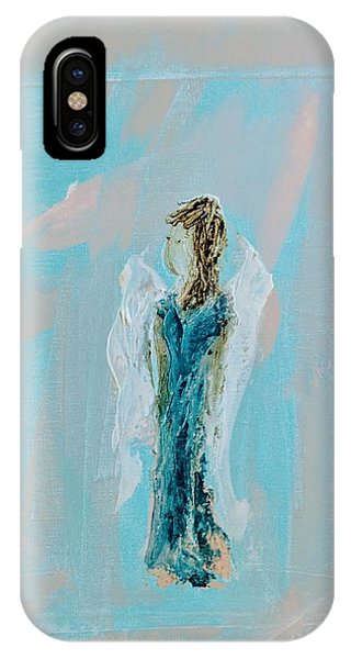 Angel With Character IPhone Case
