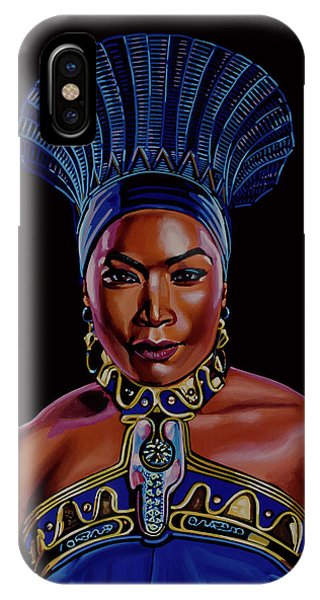 Lupita iPhone Case - Angela Bassett As Queen Ramonda Painting by Paul Meijering
