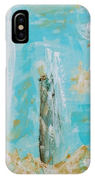 Angels Appear On Golden Clouds IPhone Case