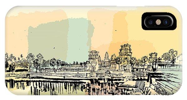 Buddhism iPhone Case - Angkor Wat, Cambodia. Hindu  Buddhist by Babayuka