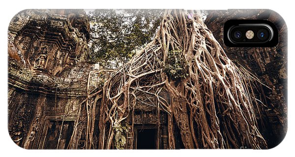 Old Building iPhone Case - Angkor Wat Temple In Siem Reap, Cambodia by Andrey Bayda