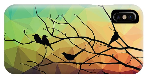 Peace iPhone Case - Animal Of Wildlife  Bird On Tree Branch by Ananaline