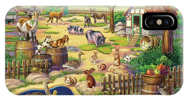 Animals At The Petting Zoo IPhone Case