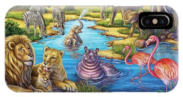 Animals In Africa IPhone Case
