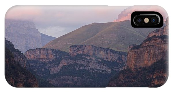 IPhone Case featuring the photograph Anisclo Canyon Sunset by Stephen Taylor