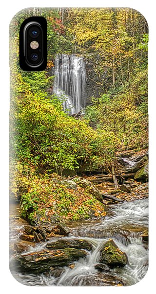 IPhone Case featuring the photograph Anna Ruby Falls Stream by Meta Gatschenberger