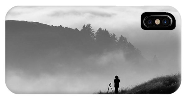 Dusk iPhone Case - Anonymous Silhouette Of Photographer by Matt Tilghman