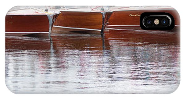 Antique Classic Wooden Boats In A Row Panorama 81112p IPhone Case