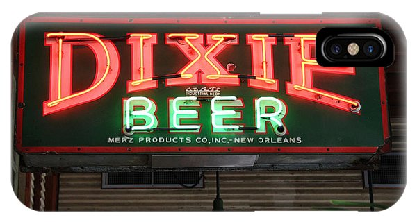 Antique Dixie Beer Neon Sign IPhone Case