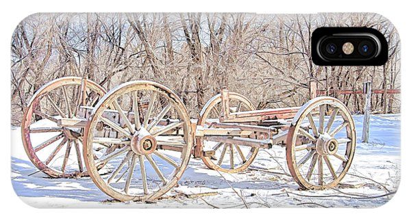 Wheeler Farm iPhone Case - Antique Farm Equipment Digitally Sketched Photograph by Nick Gray