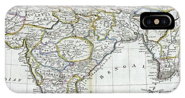 Antique Map Of India   IPhone Case
