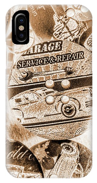 Road Signs iPhone Case - Antique Service Industry by Jorgo Photography - Wall Art Gallery