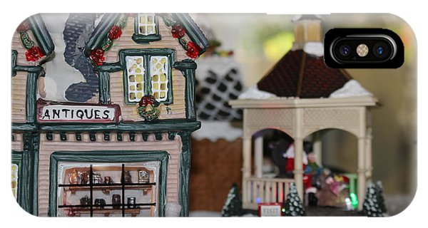 Antiques In Christmas Town IPhone Case