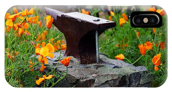 Anvil iPhone Case - Anvil In The Poppies by Anthony Jones