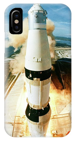 Liftoff iPhone Case - Apollo 11 Launch - Birdseye View by Nasa