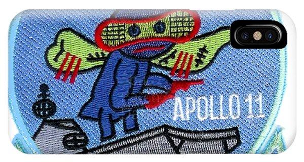 Uss Hornet iPhone Case - Apollo 11 Recovery Plus Three by Nikki