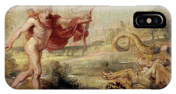 Gateway Arch iPhone Case - 'apollo And The Python', 1636-1637, Flemish School, Oil On Panel, 26,8 Cm X ... by Peter Paul Rubens -1577-1640-