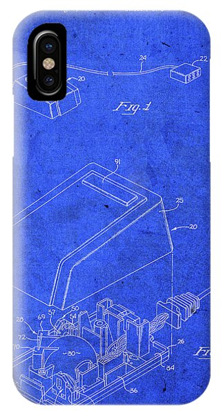 Office iPhone Case - Apple Macintosh Computer Vintage Mouse Patent Blueprint by Design Turnpike