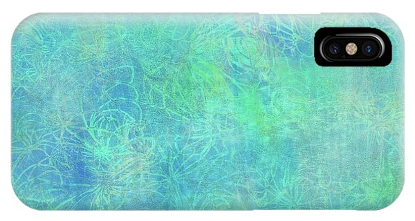 Aqua Batik Print Coordinate IPhone Case